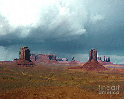Photograph - Monument Valley Storm Approaching by Merton Allen