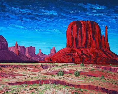 Painting - Monument Valley Storm by Cheryl Fecht