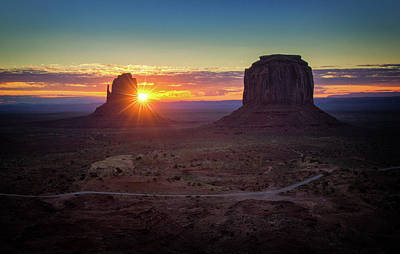 Photograph - Monument Valley Sunrise by Carolyn Derstine