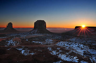 Southwest Photograph - Monument Valley Sunrise by Edwin Verin