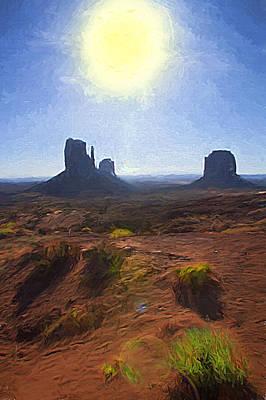 Monument Valley - Sunrise Vista 2 Art Print by Steve Ohlsen