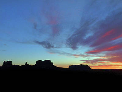 Photograph - Monument Valley Sunset by Jeff Brunton