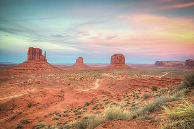 Photograph - Monument Valley Sunset by Ray Devlin