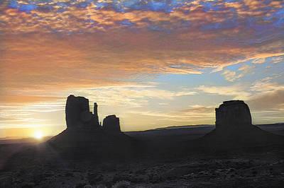 Monument Valley - Sunrise Vista  Art Print by Steve Ohlsen