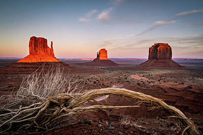 Photograph - Monument Valley Sunset by Wesley Aston