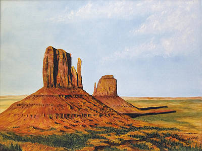 Photograph - Monument Valley The Mittens By Tom Bernard  by Wes and Dotty Weber