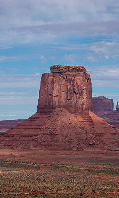 Photograph - Monument Valley Triptych Panel No.2 by Bud Simpson