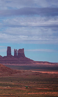 Photograph - Monument Valley Triptych Panel No.3 by Bud Simpson