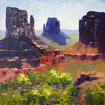 Monument Valley View Art Print by Terry  Chacon