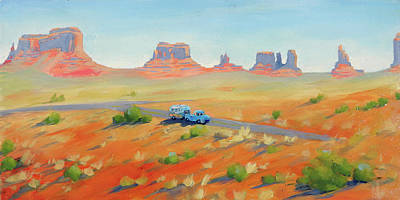 Painting - Monument Valley Vintage by Elizabeth Jose