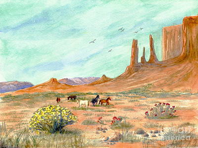 Painting - Monument Valley Vista by Marilyn Smith