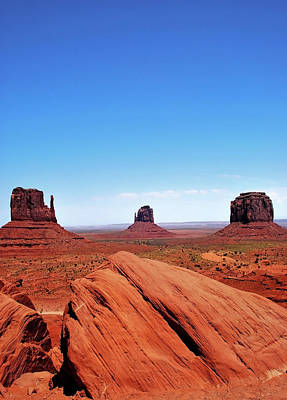 Photograph - Monument Valley With Blue Skies by Gregory Ballos