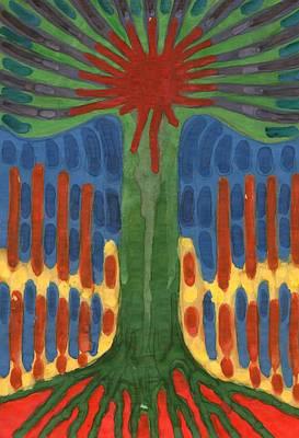 Tree Painting - Monument by Wojtek Kowalski