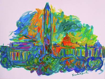 Washington Monument Painting - Monumental Flare by Kendall Kessler