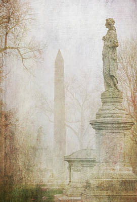 Graveyard Digital Art - Monumental Fog by Heidi Hermes