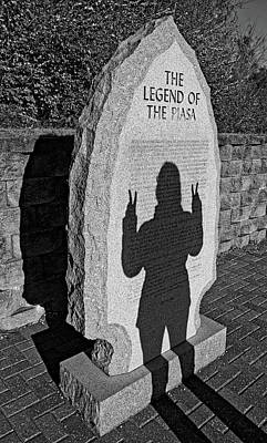 Photograph - Monumental Shadows Peace Out by Robert Meyers-Lussier