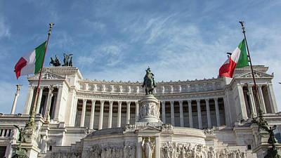 Photograph - Monumento A Vittorio Emanuele II  by John McGraw