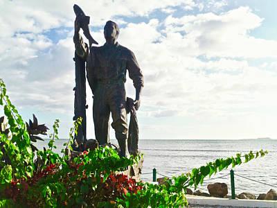 Photograph - Monumento Al Pescador Juanadino by Walter Rivera Santos