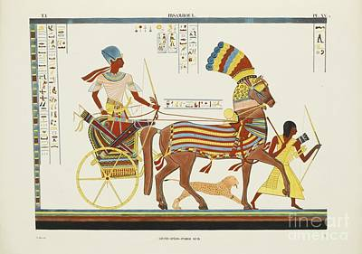Old-fashioned Painting - Monuments De L'egypte by MotionAge Designs