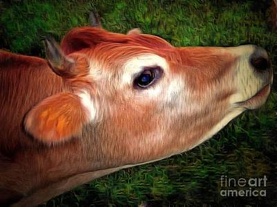 Photograph - Moo - Jersey Cow by Janine Riley