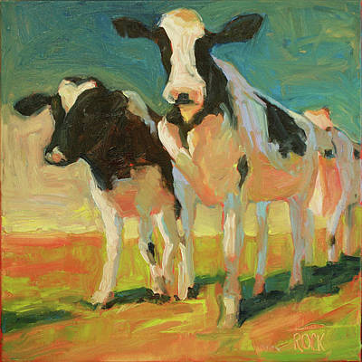 Wall Art - Painting - Moo by Leslie Rock