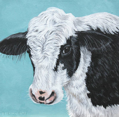 Painting - Moo by Penny Birch-Williams