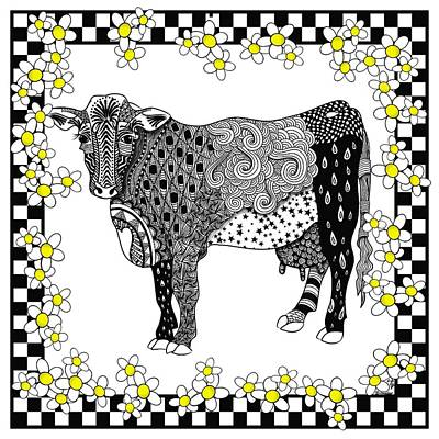 Digital Art - Moo-sue by Lisa Schwaberow