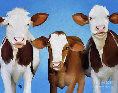Painting - moo by Tammy Lee Bradley