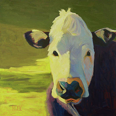 Wall Art - Painting - Moo To You by Leslie Rock