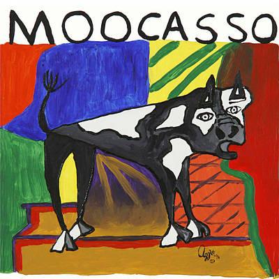 Painting - Moocasso by Stephanie Agliano