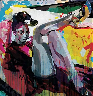 Fuschia Mixed Media - Mood by Brandie Adams-Piphus