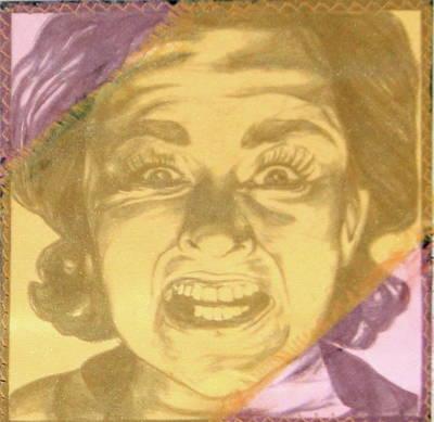 Mixed Media - Mood Swings  Purple by Joseph Lawrence Vasile