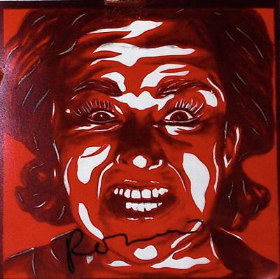Mixed Media - Mood Swings  Red by Joseph Lawrence Vasile