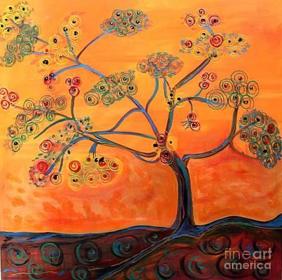 Orange Flamboyan Art Print