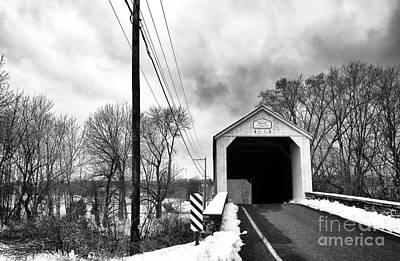 Photograph - Mood's Covered Bridge by John Rizzuto