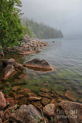 Photograph - Moody And Magical Jordan Pond by Elizabeth Dow