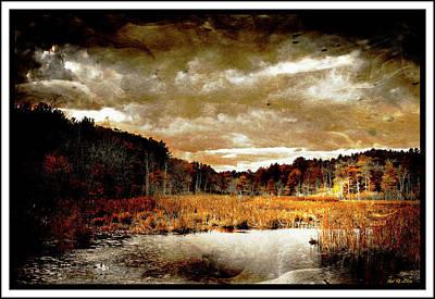 Landscape Digital Art - Moody Artistic Landscape by Lilia D