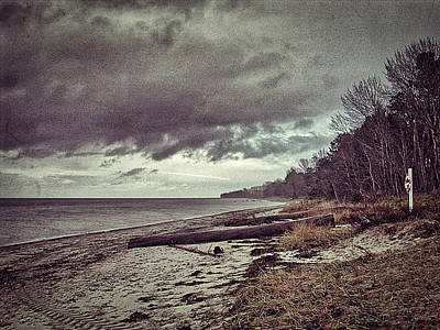 Photograph - Moody Beach by Ingrid Dendievel