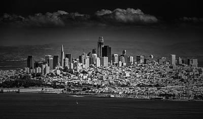 Moody Black And White Photo Of San Francisco California Art Print by Steven Heap