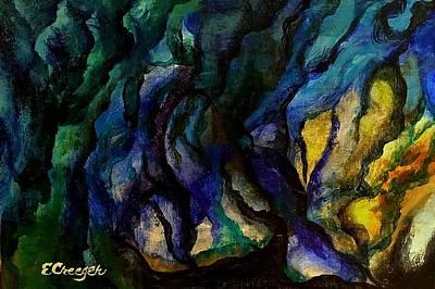 Painting - Moody Bleu by Esperanza J Creeger
