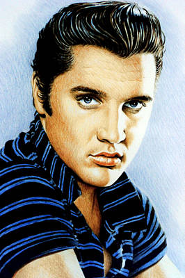 Movie Stars Drawings Drawing - Moody Blue by Andrew Read