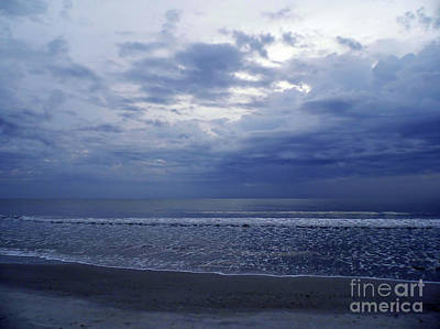 Photograph - Moody Blue Beach by D Hackett