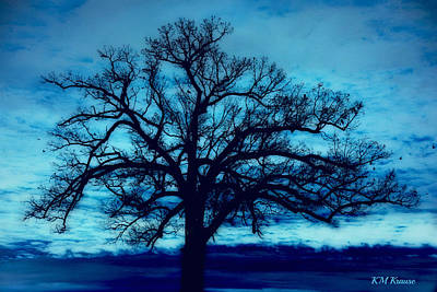 Photograph - Moody Blues And Tree by Kathy M Krause