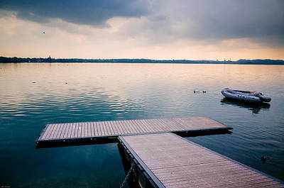 Photograph - Moody Clouds Over The Lake by Alfio Finocchiaro