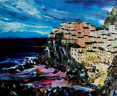 Painting - Moody Dusk In Italy by Courtney Wilding