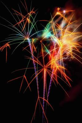 Moody Fireworks Art Print