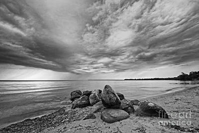 Photograph - Moody Lake Before Rain Storm by Charline Xia