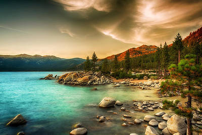 Photograph - Moody Lake by Maria Coulson