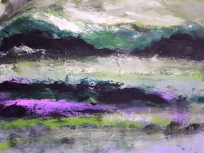 Painting - Moody Lake by Nikki Dalton
