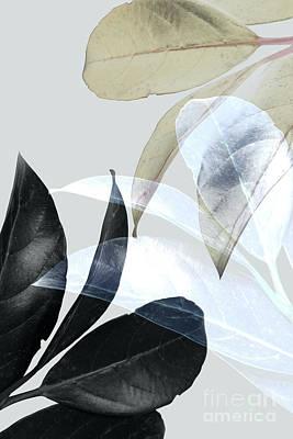 Fresh Digital Art - Moody Leaves by PrintsProject